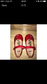 Red Girls shoes size 5