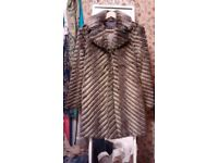 Warehouse fur (fake) coat