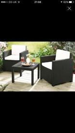 Keter Whicker style garden/conservatory set