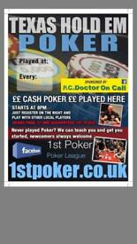 Texas Holdem Poker Nights in Kent