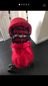 Mamma & pappa's red push chair