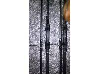 pair greys gt3 carp rods 3lb tc