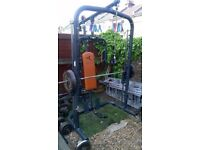 DOMYOS professional smith machine with weight bench