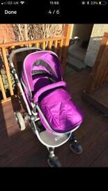 Be Safe Purple Buggy / Stroller