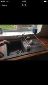 Kitchen sink and cupboard doors