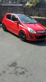 Rare red limited edition Vauxhall corsa