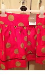 Next girls red skirt age 8 years bnwt