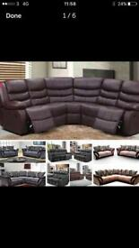 Recliner Sofa Set/corner recliner/fabric sofa - cash on delivery or finance available