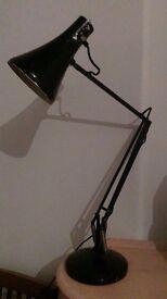 Vintage anglepoise black lamp