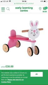 Wooden bunny trike - early learning centre