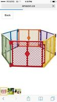 Color play gate/ play yard