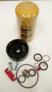 Duramax Chevy 6.2L 6.5L 6.6L Diesel Fuel Filter Base Kit & CAT 1R0750  Filter (2 Micron) (BONUS parts included!!)!