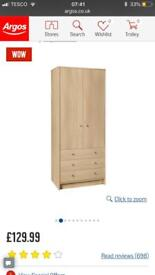 Like new wardrobe ready assembled can deliver in Plymouth