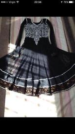 Black anarkali dress