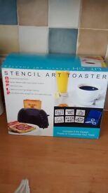 Stencil Art 2 Slice Toaster - New in original box