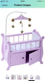 """Olivia's Little World - Twinkle Stars Princess, Nursery Crib Bed 18"""""""