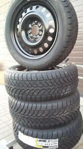 $650 (TAX-IN)- NEW 195/65/R15 snow/winter tires+ Steel rims- Civic/ Corolla/ Prius/ Mazda3/ Golf/ Jetta/ Sentra/ Forte