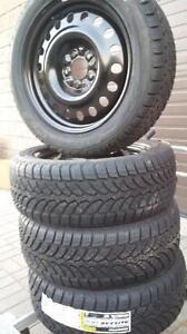 $650 (TAX-IN)- NEW 205/55/R16 snow/winter tires+ Steel rims- Civic/ Corolla/ Prius/ Mazda3/ Golf/ Jetta/ Sentra/ Forte