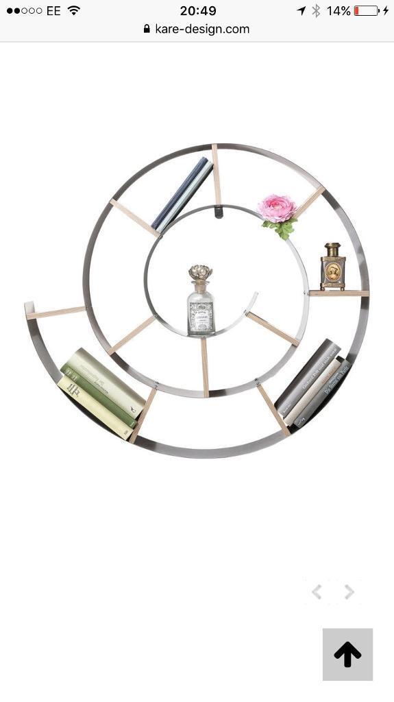 Fantastic designer spiral book shelf