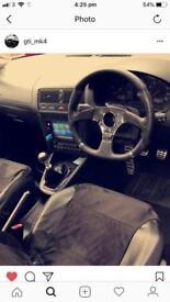 Genuine OMP steering wheel & MK4 Golf/Bora boss kit