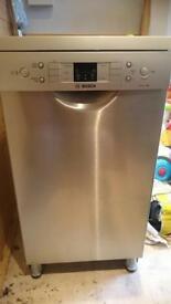 A+ Bosch Slimline Dishwasher - Serie 6, Silver