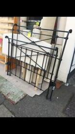 Wrought iron double bed surround only £150ono