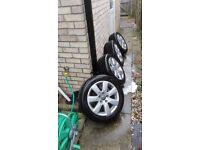 Vw catalunya alloy wheels, set of 4 .16 inch wheels.from 2006 vw passat.