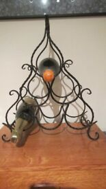 Ornate Spanish Sculpted Iron Wine Rack £15