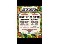 2 or 4 Weekender Tickets Warrington Saturday 26 May 2018