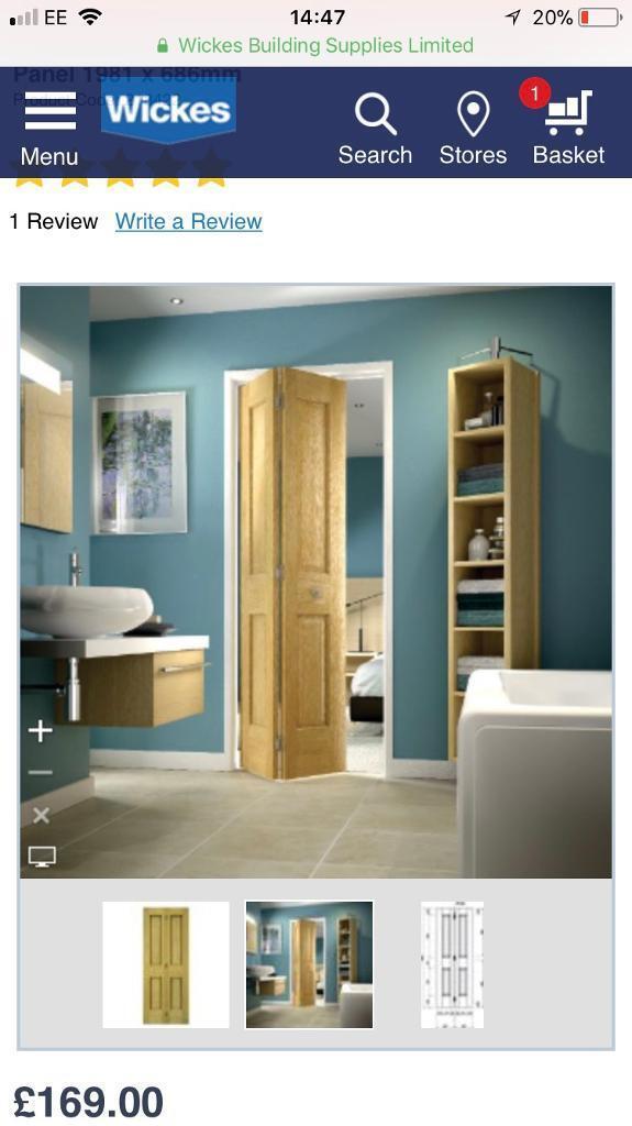 """Bifold oak door 27"""""""