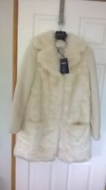 Ladies faux fur M&S jacket size 8. Brand new, never worn, labels attached.
