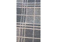 New grey tartan rug size 6 ft 6 ins x 3 ft 11 ins £20