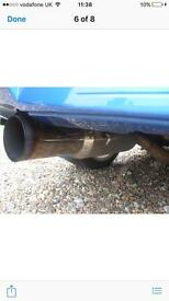 Subaru exhaust pipe spits flames 2.5 inch