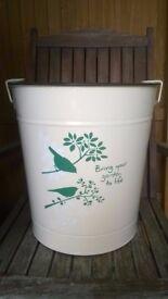 Large Metal Bird Food Container