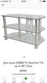 TV table from John Lewis as new