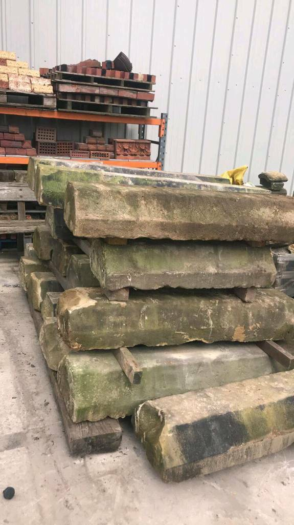 Reclaimed coping stones