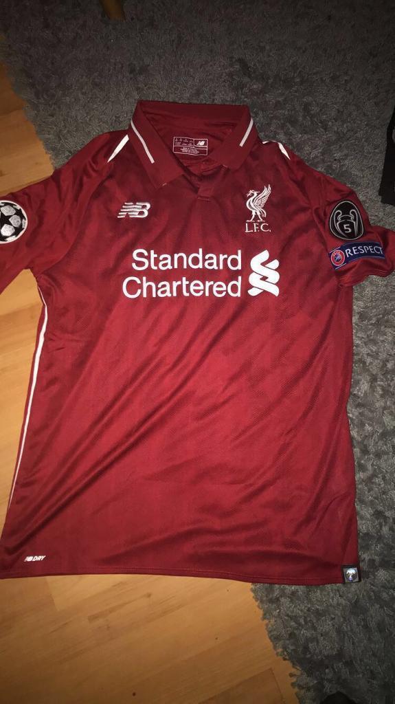 5b9e5059a2f Liverpool champions league t shirt 2018 19