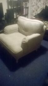 Ikea 3 Seater Sofa & Matching Large Chair