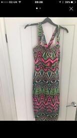 River island midi bodycon dress size 10