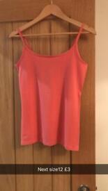 Pink next vest size 12