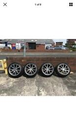Genuine Mercedes AMG CLA45 18X8 ET48 Alloy Wheels Michelin MO tyres
