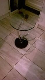glass tables x2