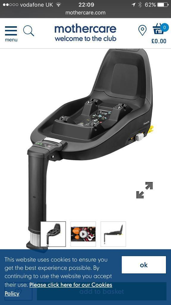 Maxi cosy car seat and isofix 2 way base