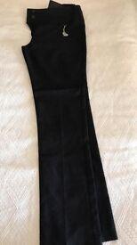 Girls Black School Trousers size 15/16yrs