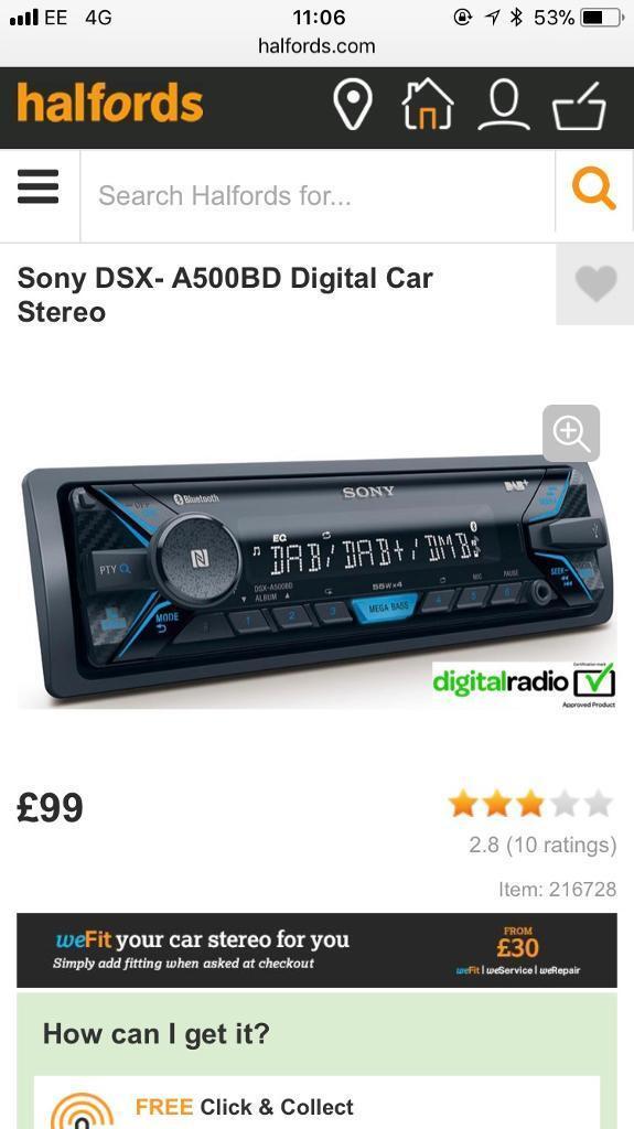 Brand new Sony stereo