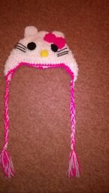 crocheted first size kitty hat with plaits new sale price