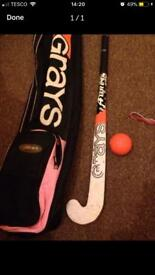Grays hockey stick/bag and ball