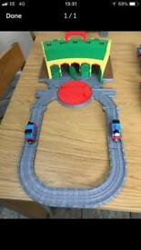 Thomas the tank engine LARGE fold up Tidmoth sheds Take and Play