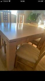 OAK DINING TABLE AND SIDEBOARD REDUCED