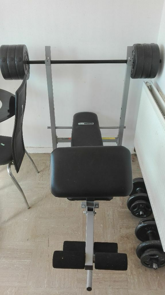 Pro Fitness Weight Bench With 30kg Weights 60 In Runcorn Cheshire Gumtree